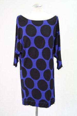 French Connection Tunika in Blau mit schwarzen Punkten