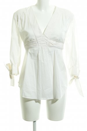 French Connection Wraparound Blouse natural white classic style