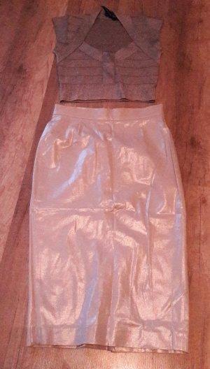 French Connection zweiteiliges Kleid Pencilskirt Rock Highwaist Crop Top Cropped