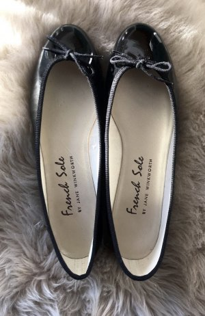 French sole fs/ny Patent Leather Ballerinas black