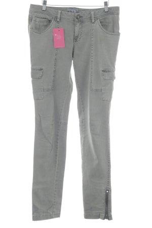 Fresh made Pantalone cargo marrone-grigio Bottoni in metallo