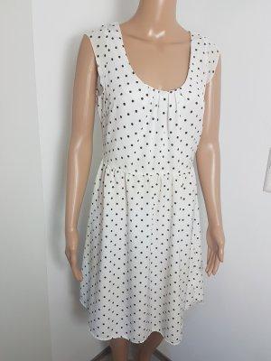 Fresh Made Damen Kleid weiß gepunktet Cocktaildress Sommer Größe L