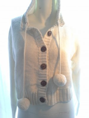 FRESH MADE DAMEN STRICK JACKE BEIGE CARDIGAN XL HERBST WINTER CASUAL DESIGNER