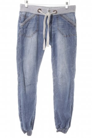 Fresh made Low Rise Jeans blue-light grey casual look