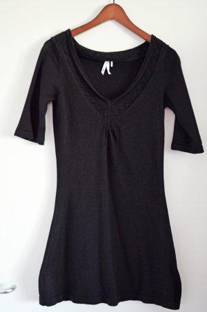 FRESH MODE schwarzes Baumwoll Strickkleid, Topzustand, S wie 36