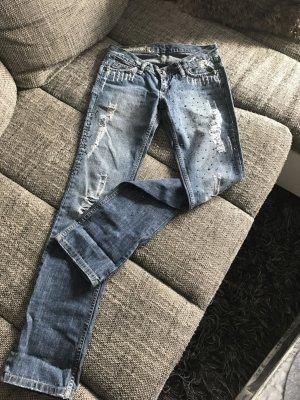Freudenhaus Jeans mit Strass