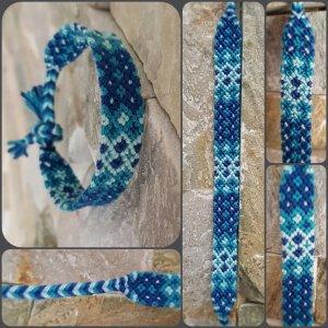 Friendship Bracelet light blue-dark blue