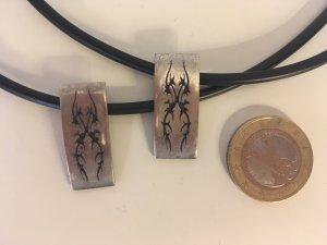 Ketting zwart-zilver