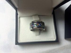 Frey Wille Ring 18 Kt Weiss gold, Hommage a Claude Monet, Iris