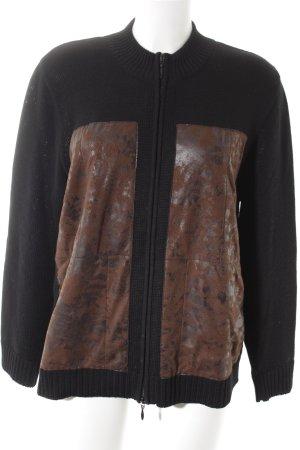 Freya Strickpullover schwarz-bronzefarben schlichter Stil