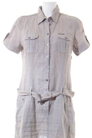 Frieda & Freddies New York Hemdblusenkleid hellgrau schlichter Stil
