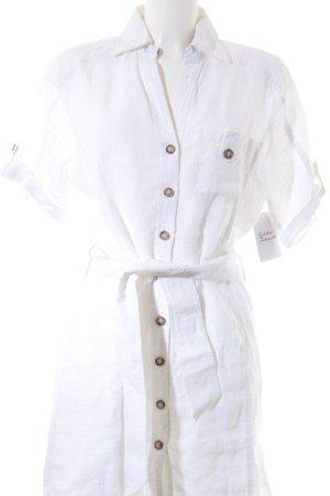 Frieda & Freddies New York Hemdblusenkleid weiß klassischer Stil