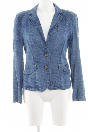 Frieda & Freddies New York Jerseyblazer blau Allover-Druck Casual-Look