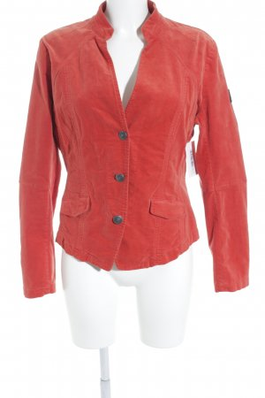 Frieda & Freddies New York Kurz-Blazer dunkelorange Samt-Optik