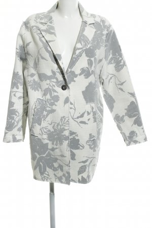 Frieda & Freddies New York Long-Blazer weiß-grau florales Muster