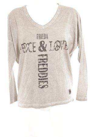 Frieda & Freddies New York Longsleeve Schriftzug gedruckt Casual-Look
