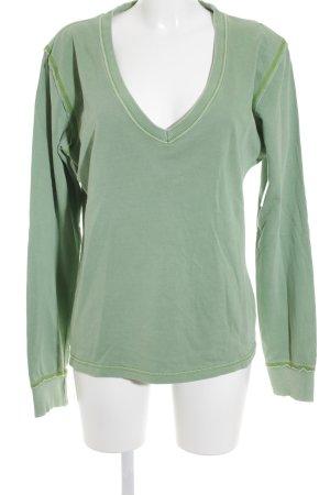 Frieda & Freddies New York Sweat Shirt lime-green-grey printed lettering