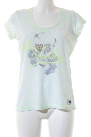 Frieda & Freddies New York T-Shirt Schriftzug gedruckt extravaganter Stil