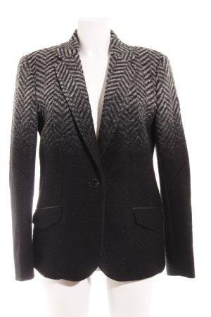 Frieda & Freddies New York Woll-Blazer schwarz-wollweiß Farbverlauf Casual-Look