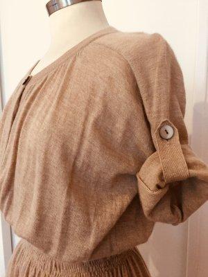 Friendly hunting 100 % bestes Nepal cashmere Kleid in einem beige Gr. L neu mit Edikett