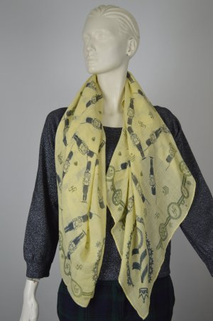 Friendly Hunting Cashmere Scarf lime yellow cashmere