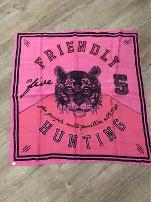 Friendly Hunting Bufanda de seda rosa-negro Seda