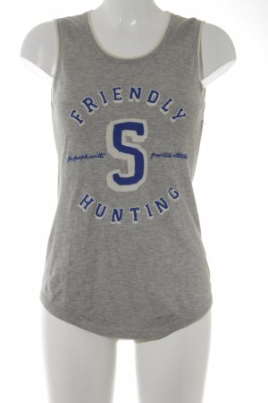 Friendly Hunting Knitted Top embroidered lettering casual look