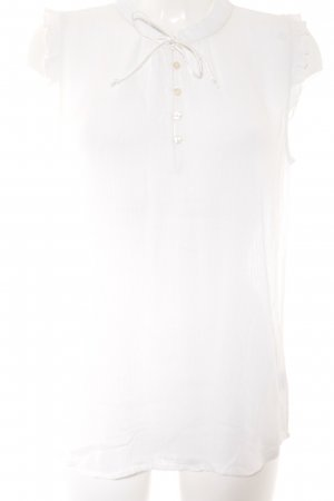 Friendtex Sleeveless Blouse natural white casual look