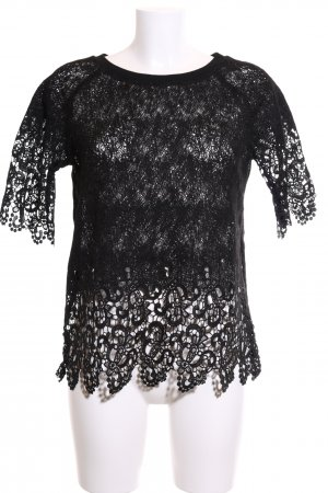 Friendtex Crochet Shirt black elegant