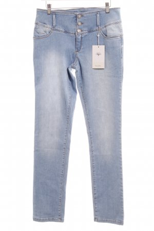 Friendtex High Waist Jeans hellblau Casual-Look