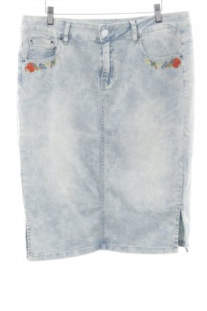 Friendtex Jeansrock blau Washed-Optik