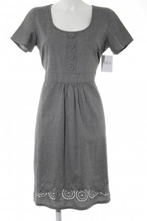 Friendtex Kurzarmkleid grau meliert Casual-Look