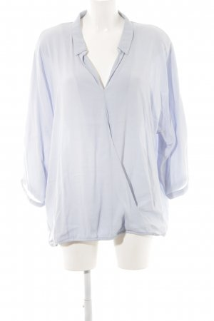 Friendtex Langarm-Bluse blau Business-Look