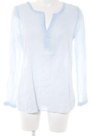Friendtex Langarm-Bluse himmelblau Casual-Look