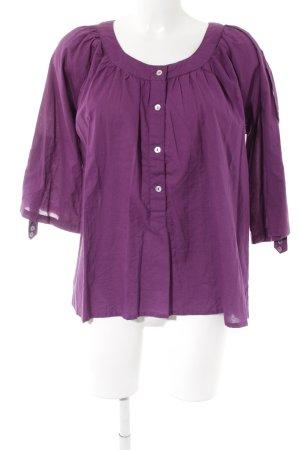 Friendtex Langarm-Bluse violett Casual-Look