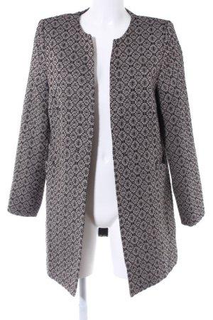 Friendtex Long-Blazer schwarz-beige abstraktes Muster Business-Look