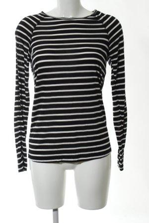 Friendtex Longsleeve schwarz-weiß Streifenmuster Casual-Look