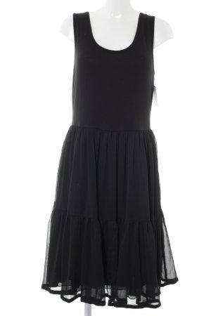 Friendtex Peplum Dress black casual look