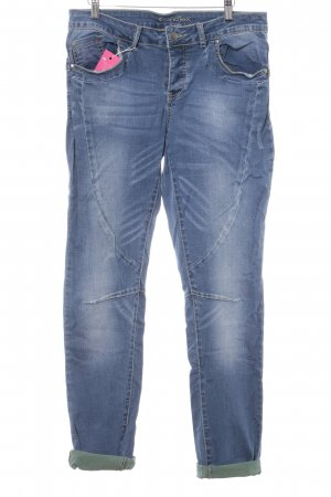 Friendtex Slim Jeans stahlblau Casual-Look