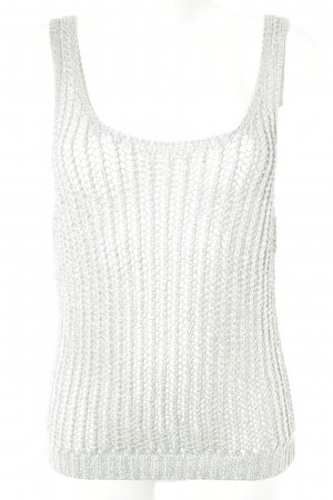 Friendtex Knitted Top silver-colored wet-look