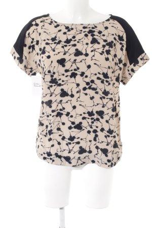 Friendtex T-Shirt beige-dunkelblau Farbtupfermuster Casual-Look