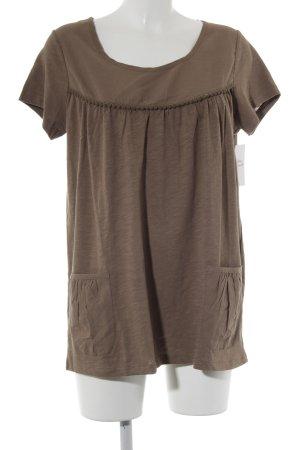 Friendtex T-Shirt hellbraun-graubraun Casual-Look