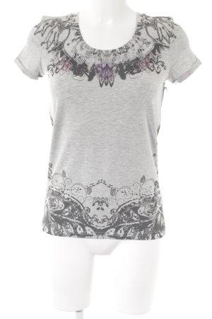 Friendtex T-Shirt hellgrau florales Muster