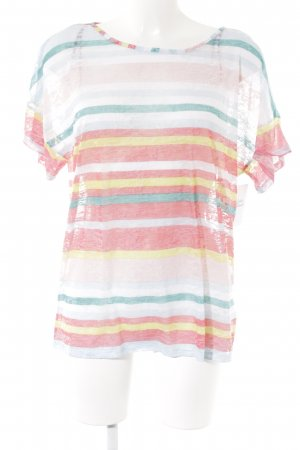 Friendtex T-Shirt pink Regenbogenmuster Casual-Look