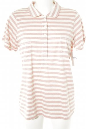 Friendtex T-Shirt wollweiß-rosé Streifenmuster Casual-Look