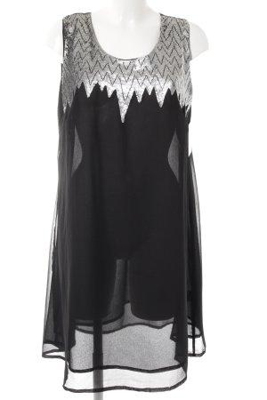 Friendtex Trägerkleid schwarz-silberfarben Elegant
