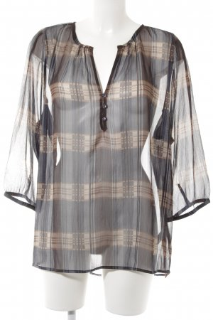 Friendtex Transparenz-Bluse Karomuster Casual-Look