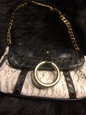 Friis & Co. kleine Leder Clutch handtasche mit goldener Kette