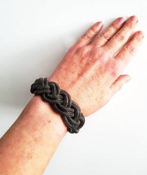 friis company Armband geflochten Altsilber Neuwertig