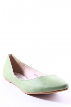 Friis & Company Ballerinas with Toecap lime-green simple style